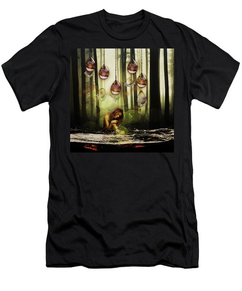 Forest Rain Fantasy Men's T-Shirt (Athletic Fit)