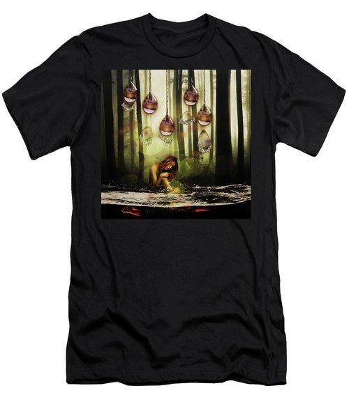 Forest Rain Fantasy Men's T-Shirt (Athletic Fit)