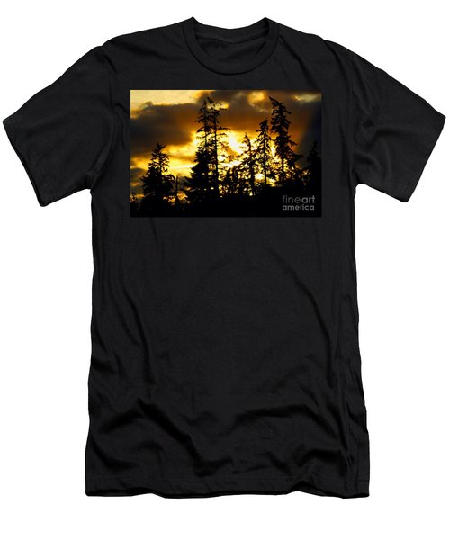 Men's T-Shirt (Slim Fit) featuring the photograph Forest Sunset  by Nick Gustafson