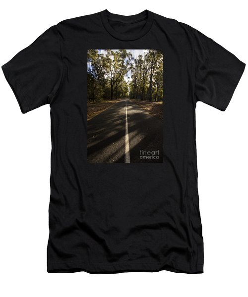 Men's T-Shirt (Athletic Fit) featuring the photograph Forestry Road Landscape by Jorgo Photography - Wall Art Gallery