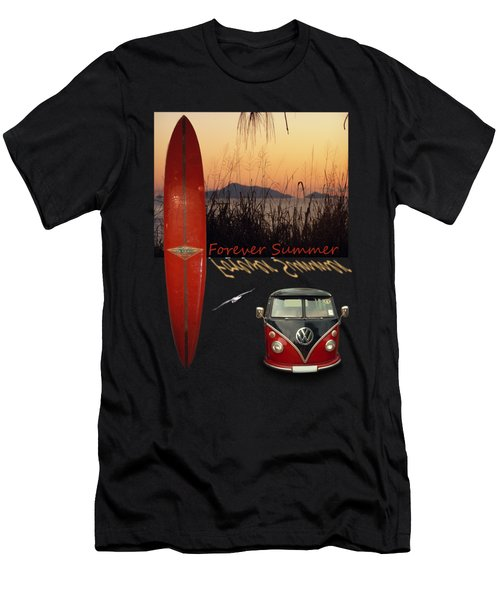 Men's T-Shirt (Slim Fit) featuring the photograph Forever Summer 1 by Linda Lees