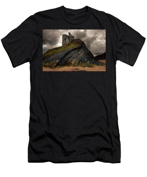 Forgotten Castle In Ballybunion Men's T-Shirt (Athletic Fit)