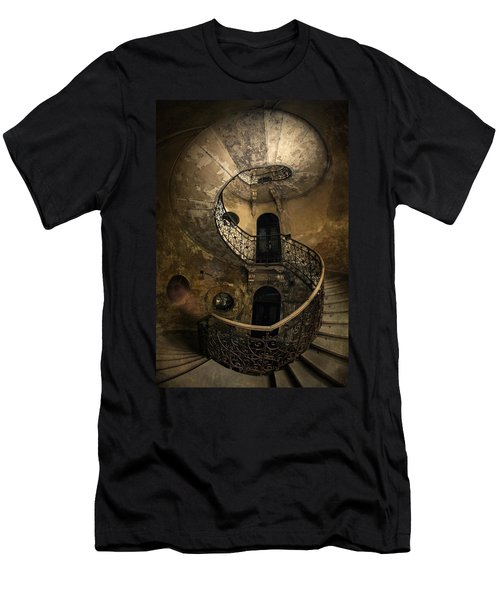 Men's T-Shirt (Athletic Fit) featuring the photograph Forgotten Staircase by Jaroslaw Blaminsky