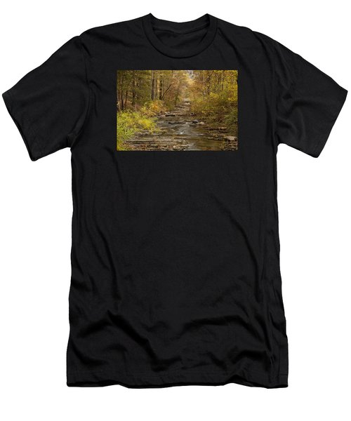 Fork River Ablaze In Color Men's T-Shirt (Athletic Fit)