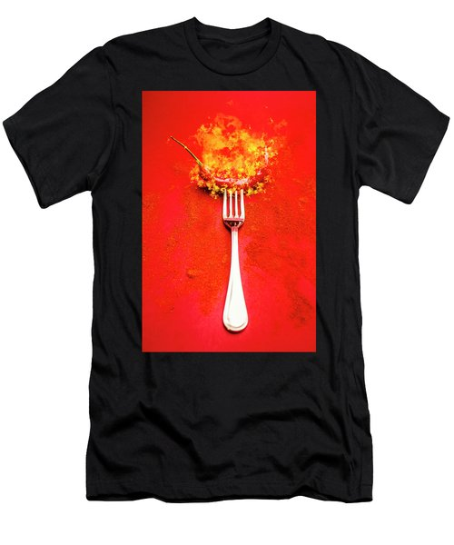 Forking Hot Food Men's T-Shirt (Athletic Fit)