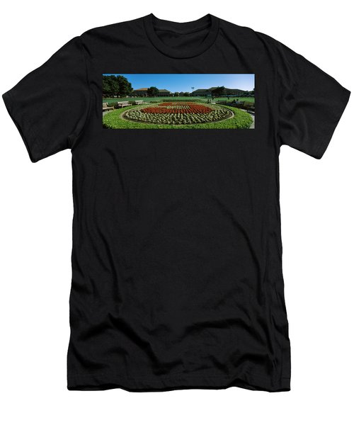 Formal Garden At The University Campus Men's T-Shirt (Athletic Fit)