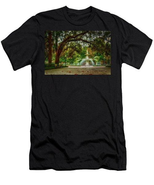 Forsyth Park Fountain Men's T-Shirt (Slim Fit)