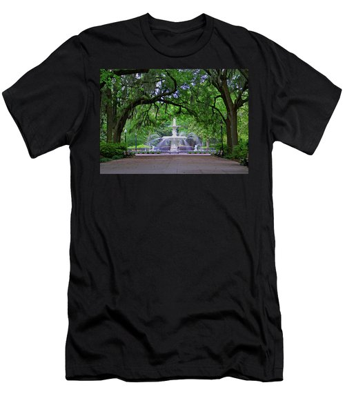 Men's T-Shirt (Slim Fit) featuring the photograph Forsyth Park by Jean Haynes
