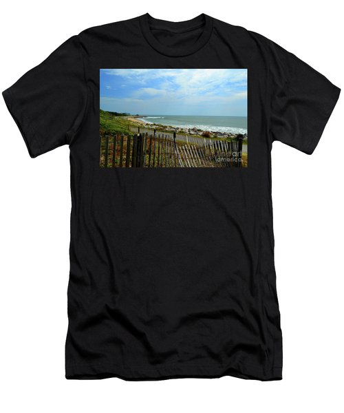 Fort Fisher Beach Men's T-Shirt (Athletic Fit)