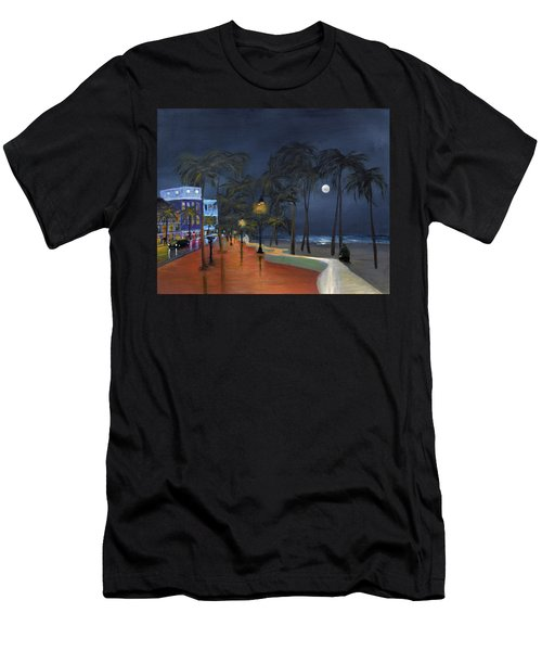 Fort Lauderdale Beach At Night Men's T-Shirt (Athletic Fit)