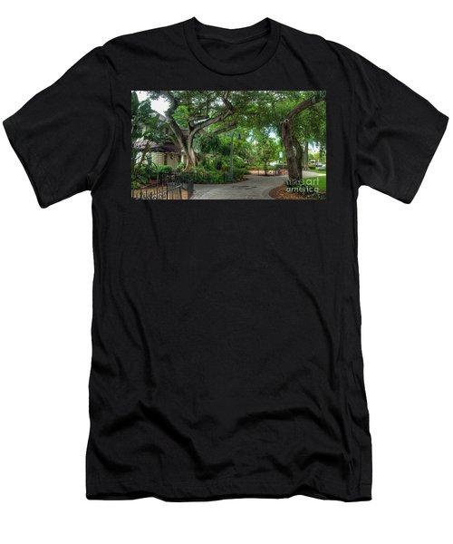 Fort Lauderdale Riverwalk Scenic Men's T-Shirt (Athletic Fit)