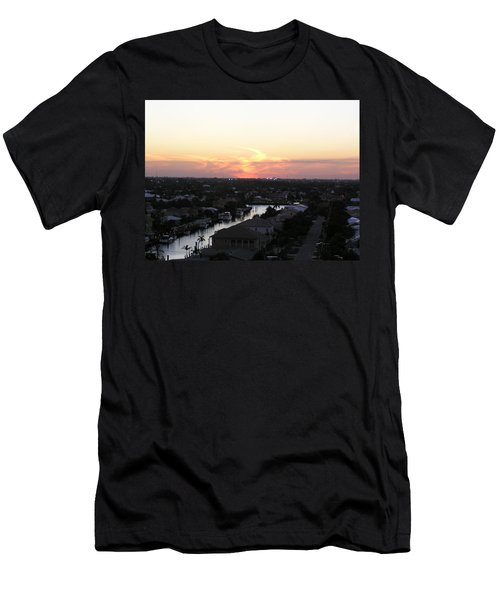 Fort Lauderdale Sunset Men's T-Shirt (Slim Fit) by Patricia Piffath