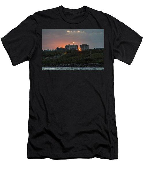 Fort Pierce Sunrise Men's T-Shirt (Slim Fit) by Nance Larson