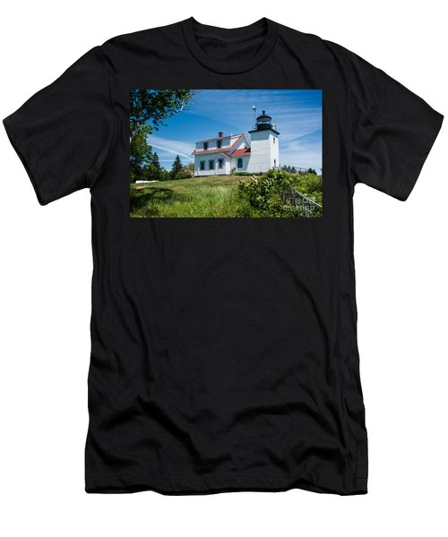 Fort Point Lighthouse  Stockton Springs Me 2  Men's T-Shirt (Athletic Fit)
