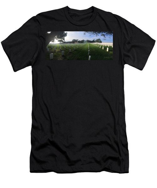 Men's T-Shirt (Slim Fit) featuring the photograph Fort Rosecrans National Cemetery by Lynn Geoffroy