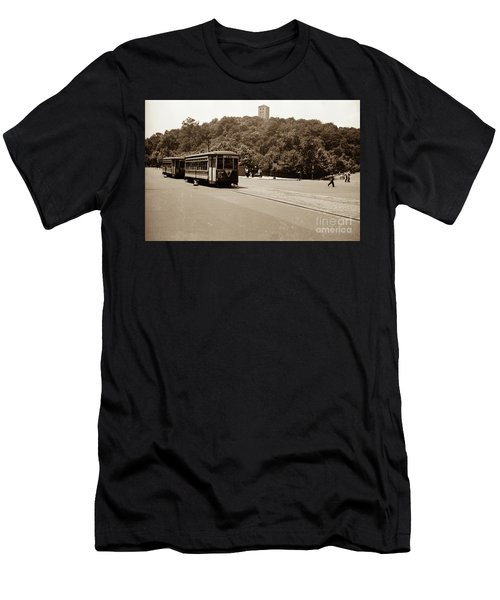 Fort Tryon Trolley Men's T-Shirt (Athletic Fit)