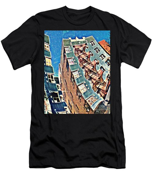 Fort Washington Avenue Building Men's T-Shirt (Athletic Fit)