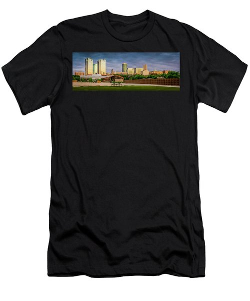 Fortworth Texas Cityscape Men's T-Shirt (Athletic Fit)