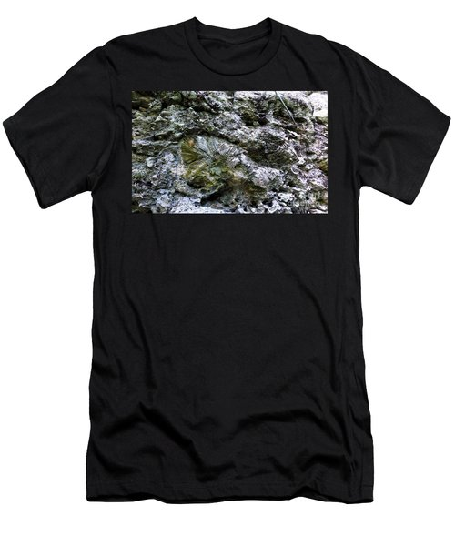 Men's T-Shirt (Athletic Fit) featuring the photograph Fossil In The Wall by Francesca Mackenney