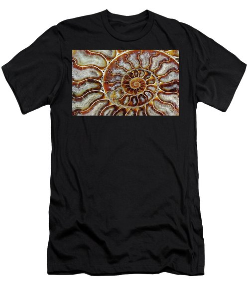 Fossilized Ammonite Spiral Men's T-Shirt (Athletic Fit)