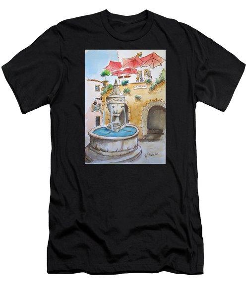 Fountain At St Paul De Vence Men's T-Shirt (Athletic Fit)