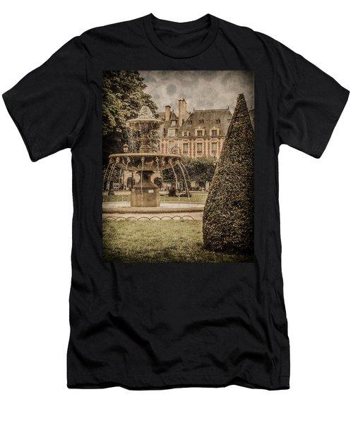Paris, France - Fountain, Place Des Vosges Men's T-Shirt (Athletic Fit)