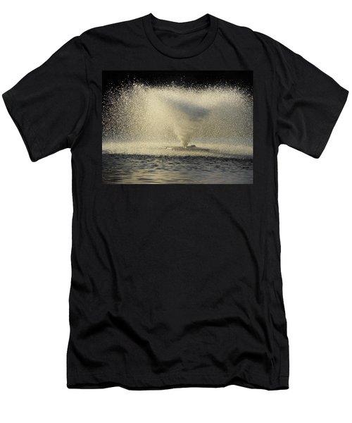Fountain Tornado Illuminating The Shadow Men's T-Shirt (Athletic Fit)