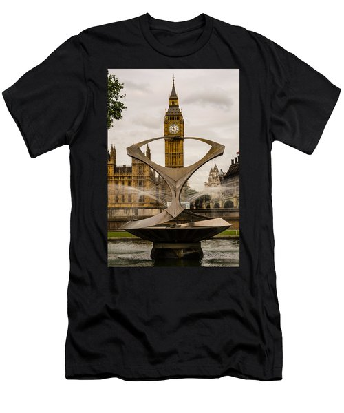Fountain With Big Ben Men's T-Shirt (Athletic Fit)