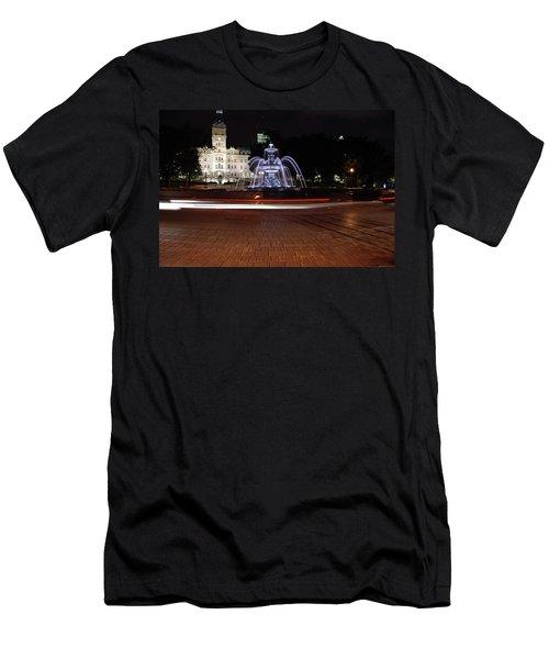 Fountaine De Tourny And Quebec Parliament Men's T-Shirt (Athletic Fit)