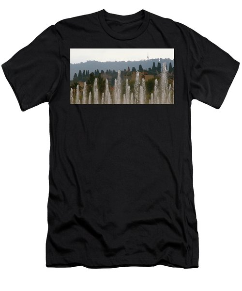 Men's T-Shirt (Athletic Fit) featuring the photograph Fountains At Dawn by Rasma Bertz