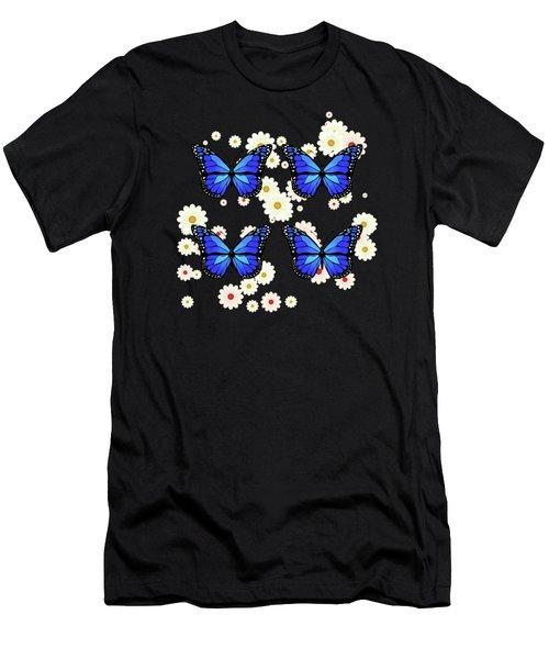 Four Blue Butterflies Men's T-Shirt (Athletic Fit)