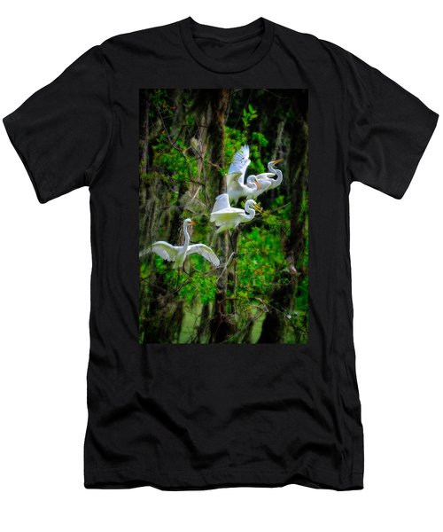Four Egrets Men's T-Shirt (Athletic Fit)