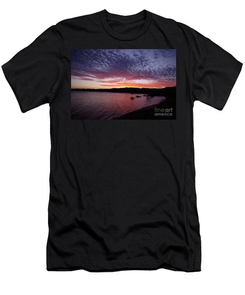 Four Elements Sunset Sequence 1 Coconuts Qld  Men's T-Shirt (Slim Fit) by Kerryn Madsen - Pietsch