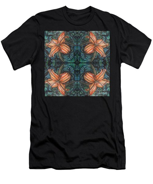 Four Lilies Leaf To Leaf Men's T-Shirt (Athletic Fit)