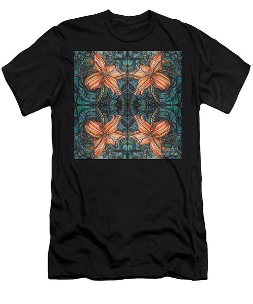 Four Lilies Looking In Men's T-Shirt (Athletic Fit)