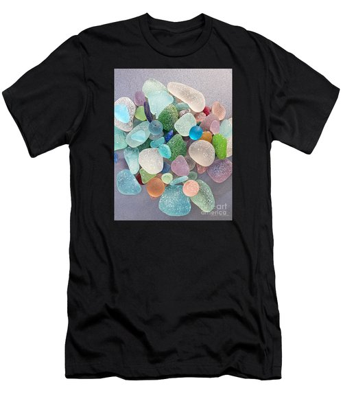 Four Marbles And A Rainbow Of Beach Glass Men's T-Shirt (Athletic Fit)