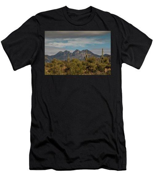 Four Peaks Painterly Men's T-Shirt (Athletic Fit)