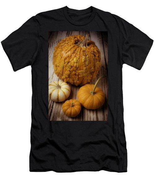Four Pumpkins Men's T-Shirt (Athletic Fit)