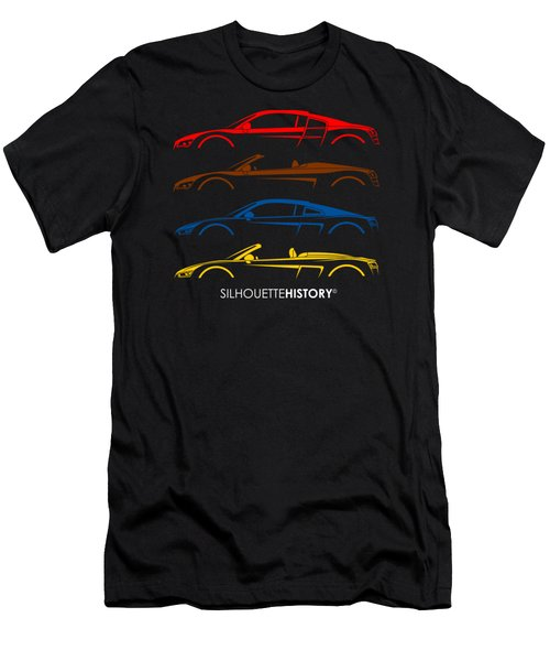 Four Ring Sports Car Silhouettehistory Men's T-Shirt (Athletic Fit)