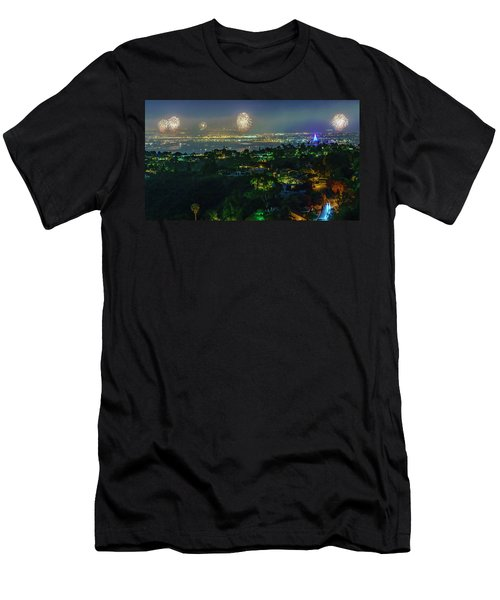 Fourth Of July Celebration In San Diego Men's T-Shirt (Athletic Fit)