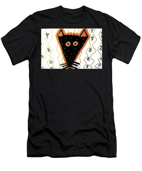Men's T-Shirt (Athletic Fit) featuring the mixed media Fox by Clarity Artists
