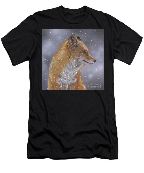 Fox In A Flurry Men's T-Shirt (Athletic Fit)