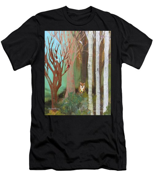 Fox In The Forest  Men's T-Shirt (Athletic Fit)