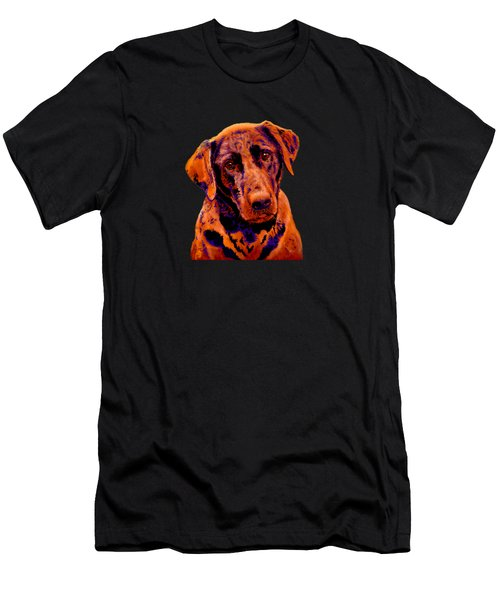 Fox Red Labrador Painting Men's T-Shirt (Athletic Fit)