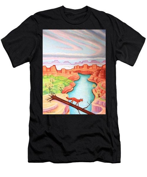 Fox Trotting Men's T-Shirt (Athletic Fit)