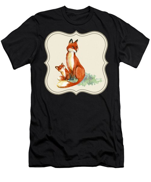 Foxy Babe And Mom Men's T-Shirt (Athletic Fit)