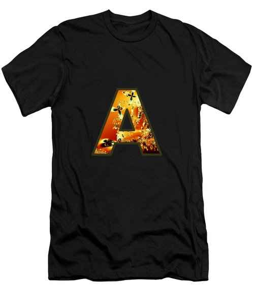 Fractal - Alphabet - A Is For Abstract Men's T-Shirt (Athletic Fit)