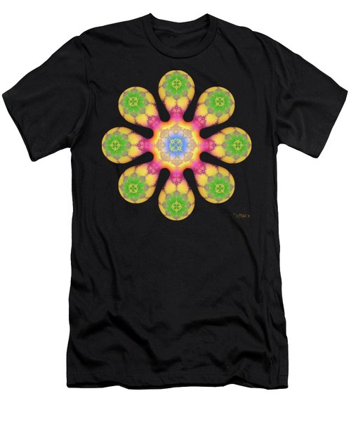 Fractal Blossom 3 Men's T-Shirt (Athletic Fit)