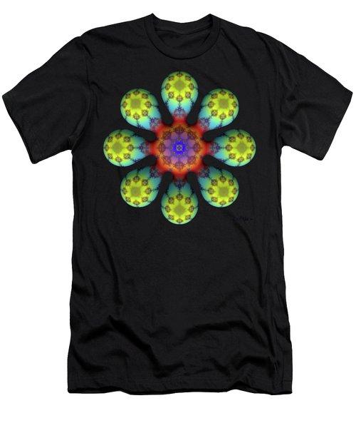 Fractal Blossom 4 Men's T-Shirt (Athletic Fit)