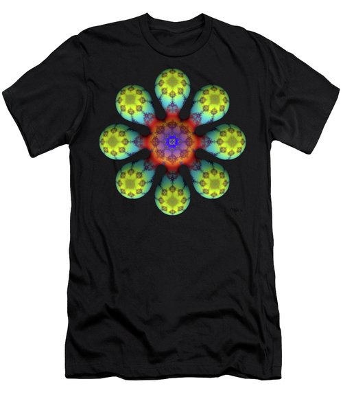 Fractal Blossom 4 Men's T-Shirt (Athletic Fit)